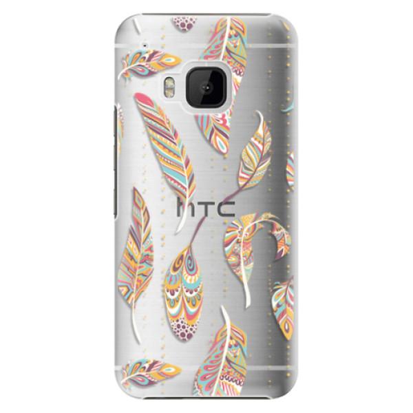 Plastové pouzdro iSaprio - Feather pattern 02 - HTC One M9