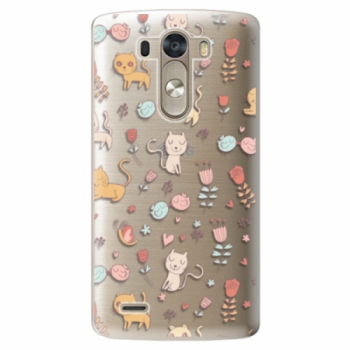 Plastové pouzdro iSaprio - Cat pattern 02 - LG G3 (D855)