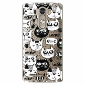 Plastové pouzdro iSaprio - Cat pattern 03 - LG G3 (D855)
