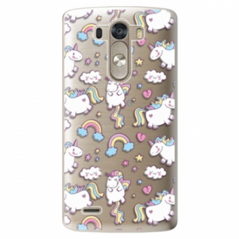 Plastové pouzdro iSaprio - Unicorn pattern 02 - LG G3 (D855)