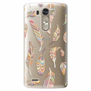 Plastové pouzdro iSaprio - Feather pattern 02 - LG G3 (D855)