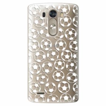 Plastové pouzdro iSaprio - Football pattern - white - LG G3 (D855)