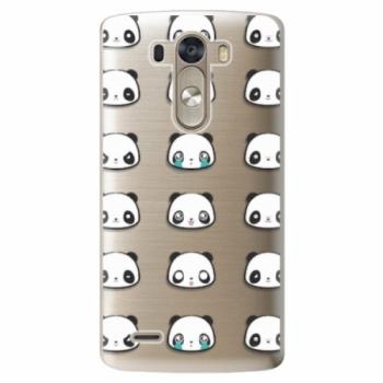 Plastové pouzdro iSaprio - Panda pattern 01 - LG G3 (D855)