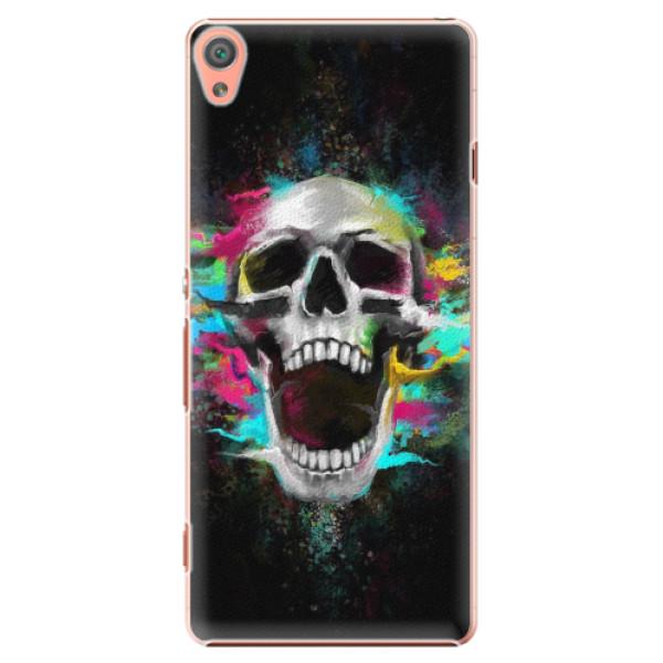 Plastové pouzdro iSaprio - Skull in Colors - Sony Xperia XA