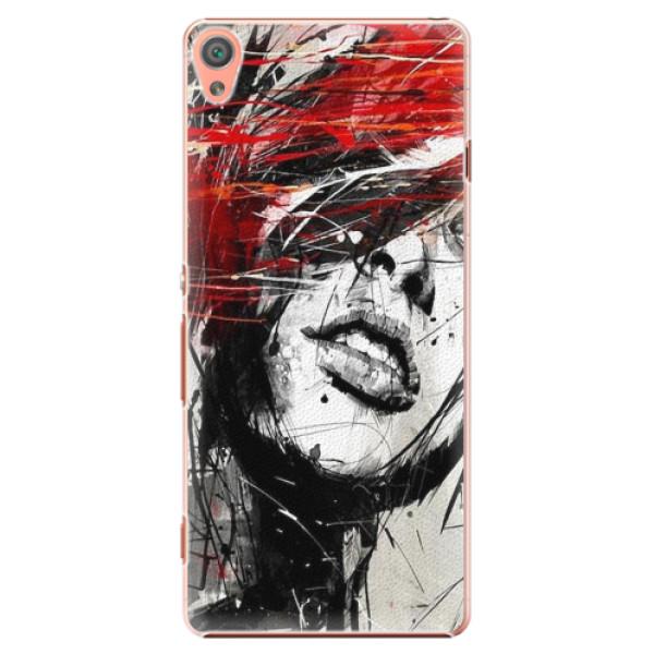 Plastové pouzdro iSaprio - Sketch Face - Sony Xperia XA