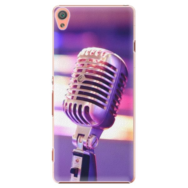 Plastové pouzdro iSaprio - Vintage Microphone - Sony Xperia XA