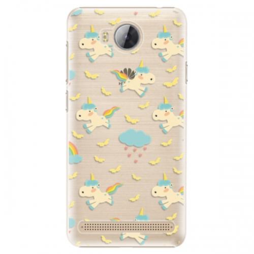 Plastové pouzdro iSaprio - Unicorn pattern 01 - Huawei Y3 II