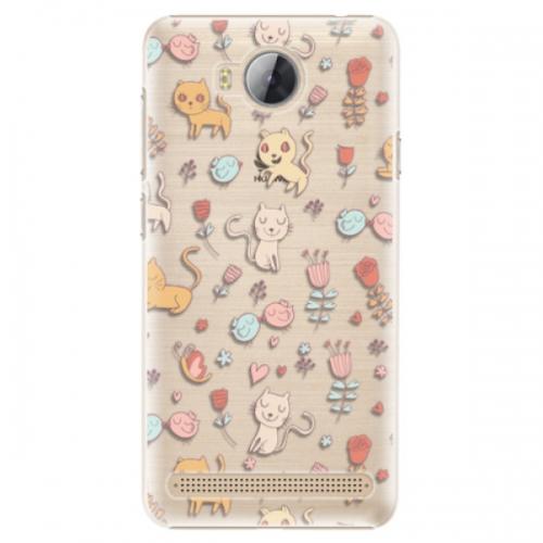 Plastové pouzdro iSaprio - Cat pattern 02 - Huawei Y3 II