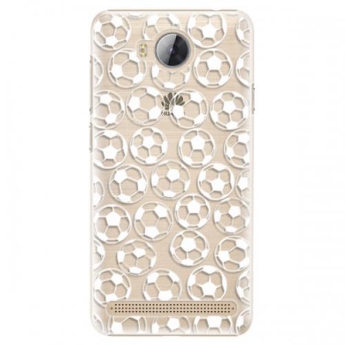 Plastové pouzdro iSaprio - Football pattern - white - Huawei Y3 II