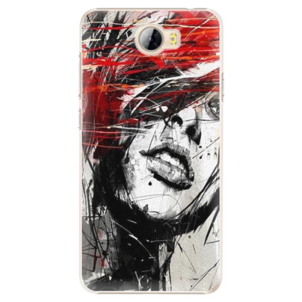 Plastové pouzdro iSaprio - Sketch Face - Huawei Y5 II / Y6 II Compact