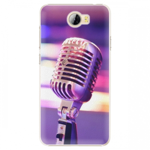 Plastové pouzdro iSaprio - Vintage Microphone - Huawei Y5 II / Y6 II Compact