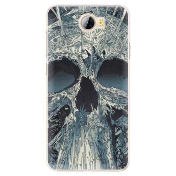 Plastové pouzdro iSaprio - Abstract Skull - Huawei Y5 II / Y6 II Compact
