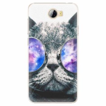Plastové pouzdro iSaprio - Galaxy Cat - Huawei Y5 II / Y6 II Compact