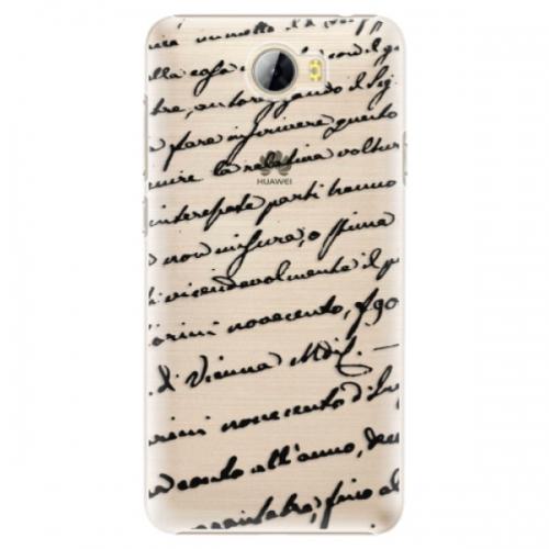 Plastové pouzdro iSaprio - Handwriting 01 - black - Huawei Y5 II / Y6 II Compact