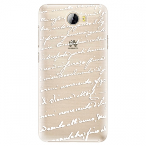 Plastové pouzdro iSaprio - Handwriting 01 - white - Huawei Y5 II / Y6 II Compact