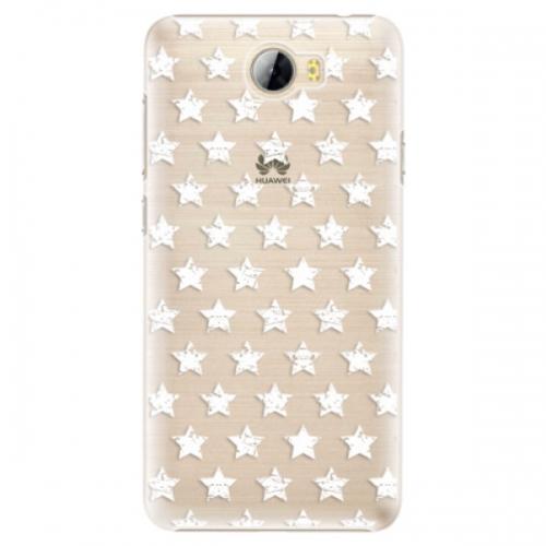 Plastové pouzdro iSaprio - Stars Pattern - white - Huawei Y5 II / Y6 II Compact