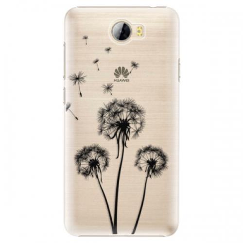 Plastové pouzdro iSaprio - Three Dandelions - black - Huawei Y5 II / Y6 II Compact
