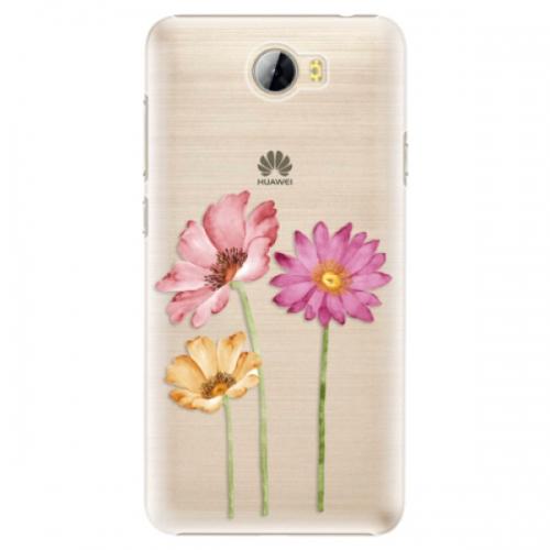 Plastové pouzdro iSaprio - Three Flowers - Huawei Y5 II / Y6 II Compact