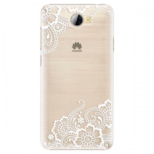 Plastové pouzdro iSaprio - White Lace 02 - Huawei Y5 II / Y6 II Compact