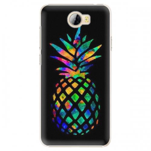 Plastové pouzdro iSaprio - Rainbow Pineapple - Huawei Y5 II / Y6 II Compact