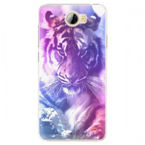 Plastové pouzdro iSaprio - Purple Tiger - Huawei Y5 II / Y6 II Compact