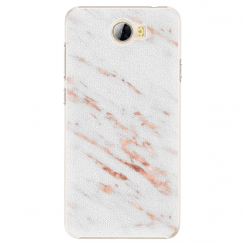 Plastové pouzdro iSaprio - Rose Gold Marble - Huawei Y5 II / Y6 II Compact