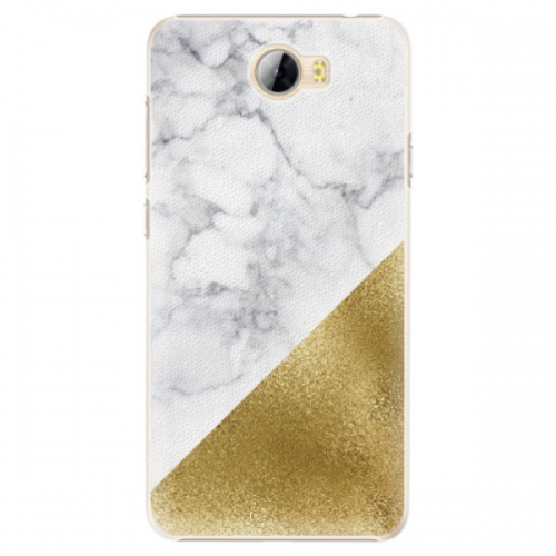 Plastové pouzdro iSaprio - Gold and WH Marble - Huawei Y5 II / Y6 II Compact