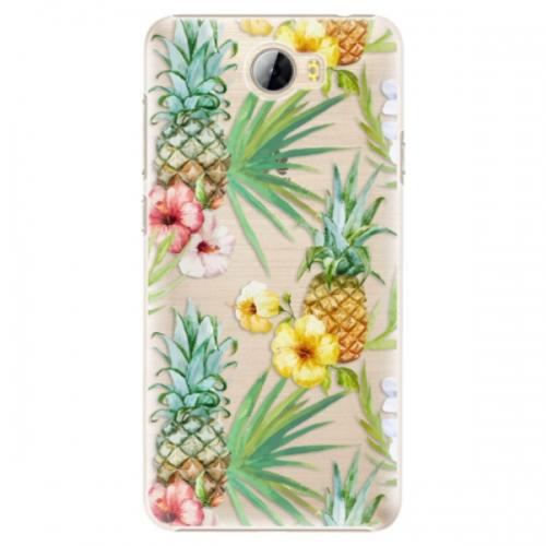 Plastové pouzdro iSaprio - Pineapple Pattern 02 - Huawei Y5 II / Y6 II Compact