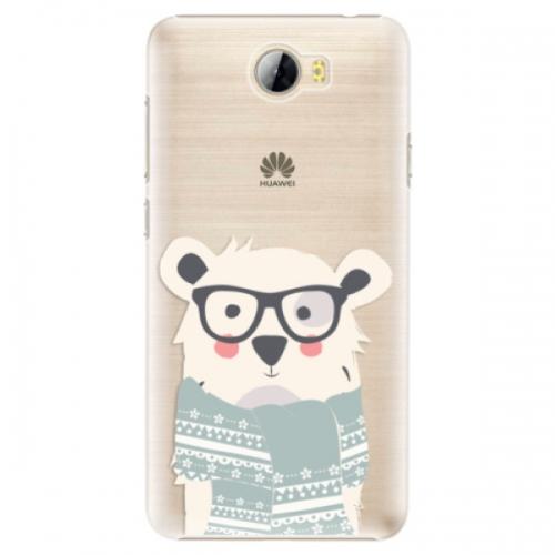 Plastové pouzdro iSaprio - Bear with Scarf - Huawei Y5 II / Y6 II Compact