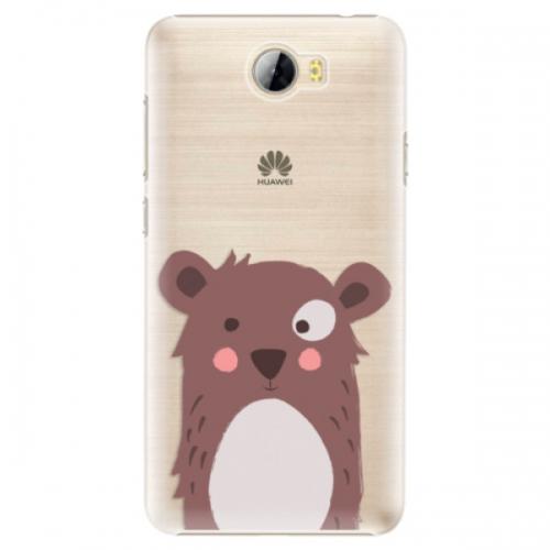 Plastové pouzdro iSaprio - Brown Bear - Huawei Y5 II / Y6 II Compact