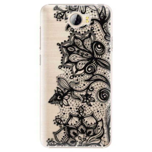 Plastové pouzdro iSaprio - Black Lace - Huawei Y5 II / Y6 II Compact