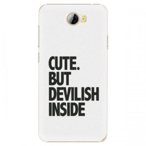 Plastové pouzdro iSaprio - Devilish inside - Huawei Y5 II / Y6 II Compact