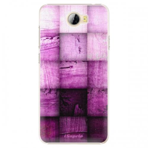 Plastové pouzdro iSaprio - Purple Squares - Huawei Y5 II / Y6 II Compact