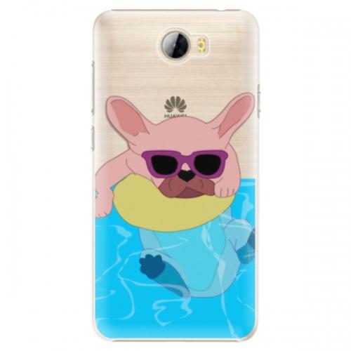 Plastové pouzdro iSaprio - Swimming Dog - Huawei Y5 II / Y6 II Compact
