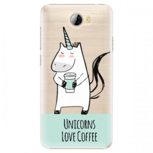 Plastové pouzdro iSaprio - Unicorns Love Coffee - Huawei Y5 II / Y6 II Compact