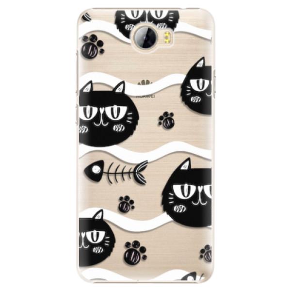 Plastové pouzdro iSaprio - Cat pattern 04 - Huawei Y5 II / Y6 II Compact