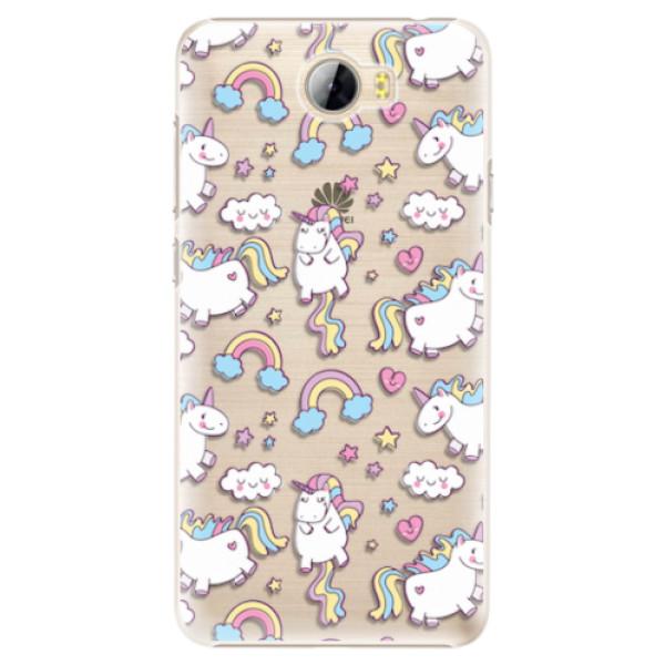 Plastové pouzdro iSaprio - Unicorn pattern 02 - Huawei Y5 II / Y6 II Compact