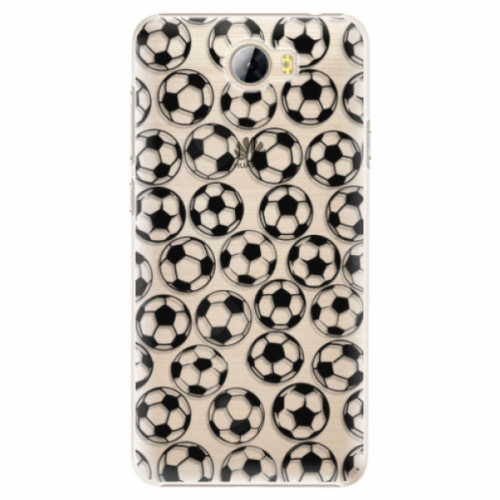 Plastové pouzdro iSaprio - Football pattern - black - Huawei Y5 II / Y6 II Compact