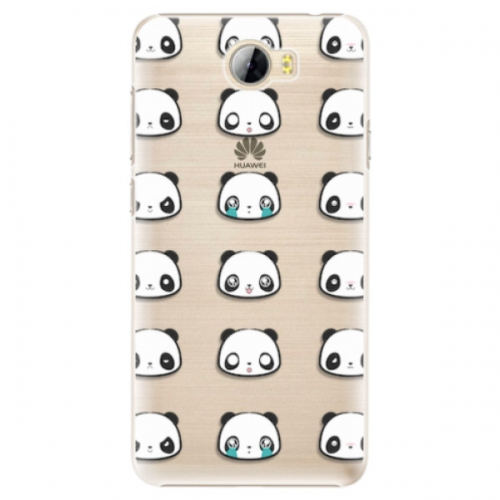 Plastové pouzdro iSaprio - Panda pattern 01 - Huawei Y5 II / Y6 II Compact