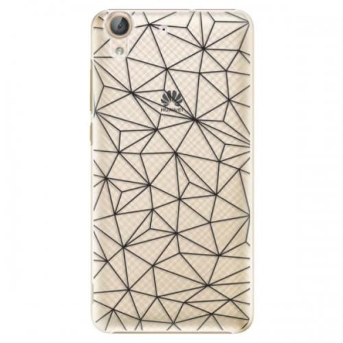 Plastové pouzdro iSaprio - Abstract Triangles 03 - black - Huawei Y6 II