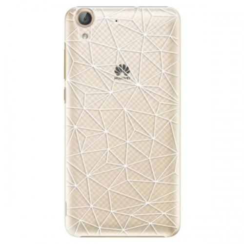Plastové pouzdro iSaprio - Abstract Triangles 03 - white - Huawei Y6 II