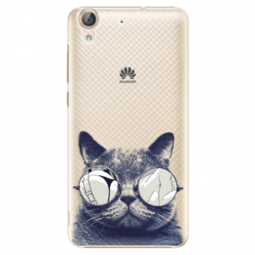 Plastové pouzdro iSaprio - Crazy Cat 01 - Huawei Y6 II