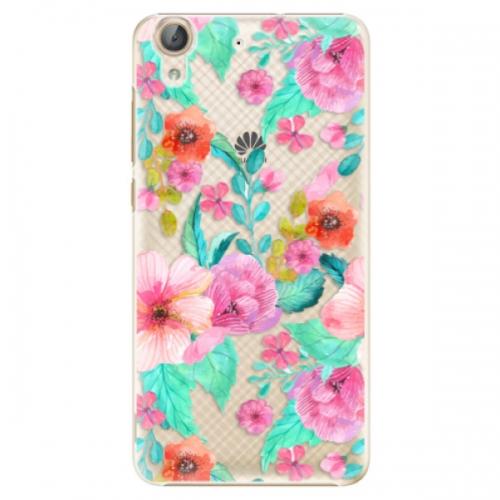 Plastové pouzdro iSaprio - Flower Pattern 01 - Huawei Y6 II