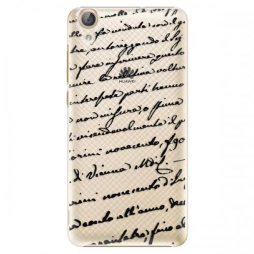 Plastové pouzdro iSaprio - Handwriting 01 - black - Huawei Y6 II