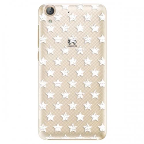 Plastové pouzdro iSaprio - Stars Pattern - white - Huawei Y6 II