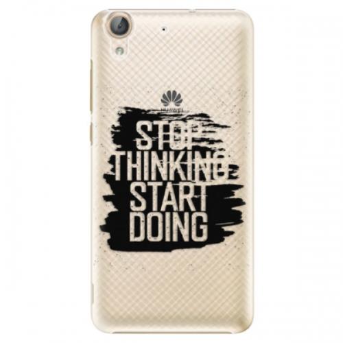 Plastové pouzdro iSaprio - Start Doing - black - Huawei Y6 II