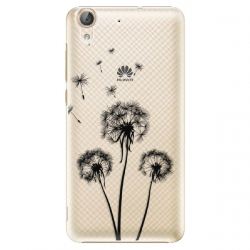 Plastové pouzdro iSaprio - Three Dandelions - black - Huawei Y6 II