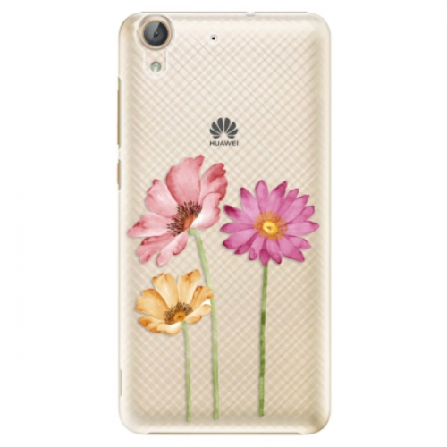 Plastové pouzdro iSaprio - Three Flowers - Huawei Y6 II