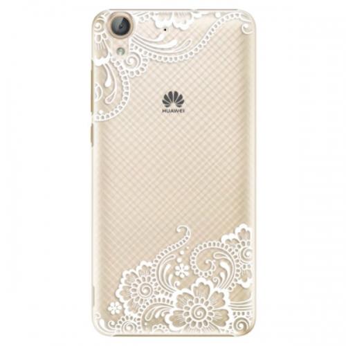 Plastové pouzdro iSaprio - White Lace 02 - Huawei Y6 II