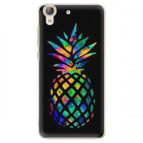 Plastové pouzdro iSaprio - Rainbow Pineapple - Huawei Y6 II